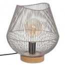 grijze metalen draadlamp h28 cm jena, grijs