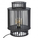 black bamboo lamp h35cm slow, black