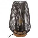 lámpara de alambre de metal negro h40,5 noda, negr