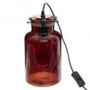 lámpara de cristal tintado h29cm edo, ámbar