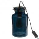 lámpara de cristal azul edo, azul