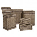 baskets rect. x5, brown