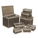 cestas rect. x8, marrón