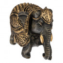 wholesale Figures & Sculptures: black and gold elephant h9, 2- times assorted , co