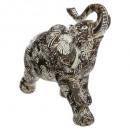 tumba de elefante resina h20, blanco y negro