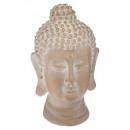 gebleekte boeddha hoofd h19, brons