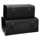perforated metal canteen black x2, black