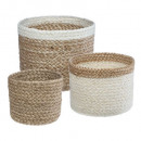 jute seagr basket plate white pm x3, multicolored