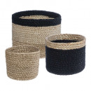 jute seagr basket plate nr pm x3, multicolored