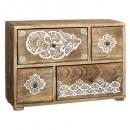 caja de 4 cajones rituales, marrón