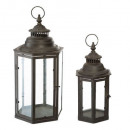 set x2 outdoor lantern max h48, black