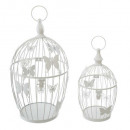 set x2 metal cage max h39,5, white