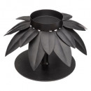 metal candle holder palm tree h8, black