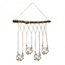 soliflore x4 hanglamp + led, medium beige