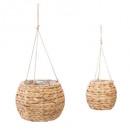 wholesale Garden & DIY store: set x2 hanging lamp hya max d26, beige