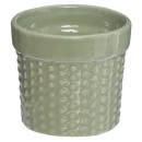 ceramic pot h7,5, 3- times assorted , matching col