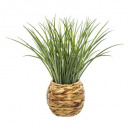 grass pot braid d18 h46, beige