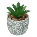 ceramic plant print d5,5, 4- times assorted , mult