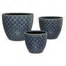 setx3 flor de cerámica azul max d30, azul marino