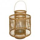 linterna de bambú fino d26 h34, beige