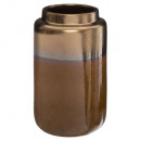 vase ceramique ocre reactive, marron