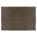 alfombra de yute cuna negra 120x170, negra