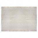 alfombra de cuna de yute blanco 120x170, blanco