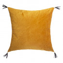 Pillow in velvet sti film oc 40x40, ocher