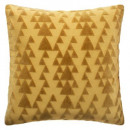 Pillow in velvet cut zip oc 40x40, ocher