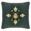 Pillow in velvet abeil ced 40x40, cedar green