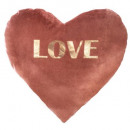 Pillow heart in velvet or love30x30, 2-fold asso