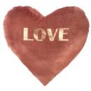 Kussen hart erin velvet of love30x30, 2-voudige as