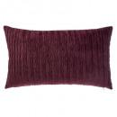 Kussen in velvet plisse maart 30x50, donkerrood