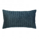 Pillow in velvet blue pleat 30x50, blue