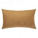 Pillow in velvet ocher pleat 30x50, ocher