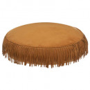 Pillow ground suede pop d40x10, ocher