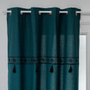 pomp pop print curtain ca 140x260, duck blue