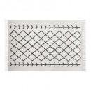 alfombra de delft tuft 120x170, blanco y negro