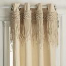 cortina ritual de macramé 140x260, beige