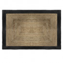 tapis jute bord noir 120x170, noir