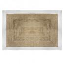 tapis jute bord blanc 120x170, blanc