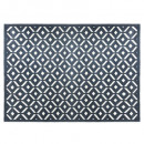 alfombra con relieve de diamantes 160x230, gris
