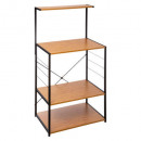 metal shelf + imit bamboo gm, black