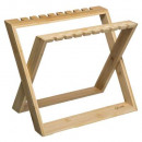 bamboo folding glass shelf, colorless