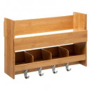wall shelf + bamboo hook, colorless