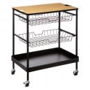 wholesale Haberdashery & Sewing: 2pn metal trolley + amo board, black