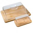 cheese box + bamboo butter dish, transparent