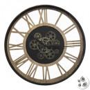 Großhandel Uhren & Wecker: Pendel Meca Metall / Holz D57, schwarz