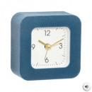 Clock velvet 9x9, 4- times assorted , matching col