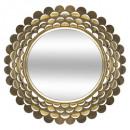 spiegel metalen bloem goud d91, goud